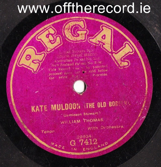 William Thomas - Kate Muldoon - Regal G.7412